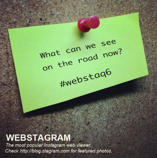 WEBSTA QUESTION (#WEBSTAQ6)  Answer the question by taking the photo now. Take it any way you want! We're looking for different kinds of photos! The most interesting and creative ones will be featured here on Blog.Stagram.   Remember to tag it with #WEBSTAQ6. RULES:1. No old photos please. 2. Photo(s) must be yours.3. Only family-friendly photos!  You'll know it's over when #WEBSTAQ7 is up! What's this you ask?