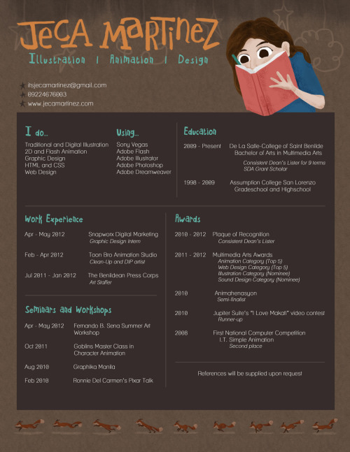 My re-designed Creative Resume Read more here