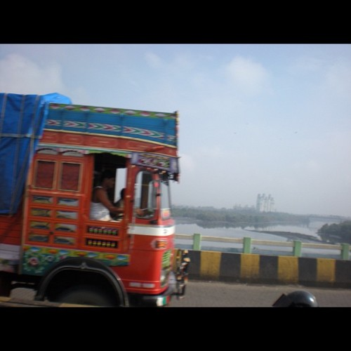 Irony I guess!! (Taken with Instagram at thane bridge)