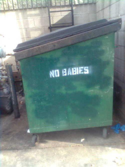dailyanarchist:  No babies….tempting.http://dailyanarchist.tumblr.com/