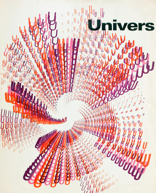 superbruut:  cover for adrian frutiger's univers typeface brochure by rémy peignot (1960) -SuperBruut / Facebook / Twitter