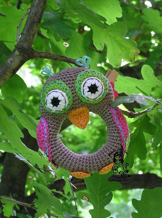 Owl Crochet Rattle Pattern by VendulkaM on Etsy.