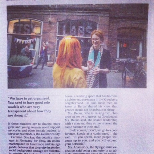 Tech Women in Berlin in the NYT!  (Taken with Instagram)