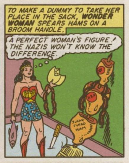 The perfect woman's figure is made up of sugar cured ham. Insert various comments on women being treated like pieces of meat here.