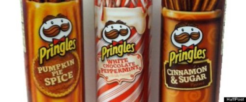 Uh… Hmmm… Holiday Pringles? (via Pringles To Debut Pumpkin Pie Spice, White Chocolate Peppermint And Cinnamon & Sugar Flavors)