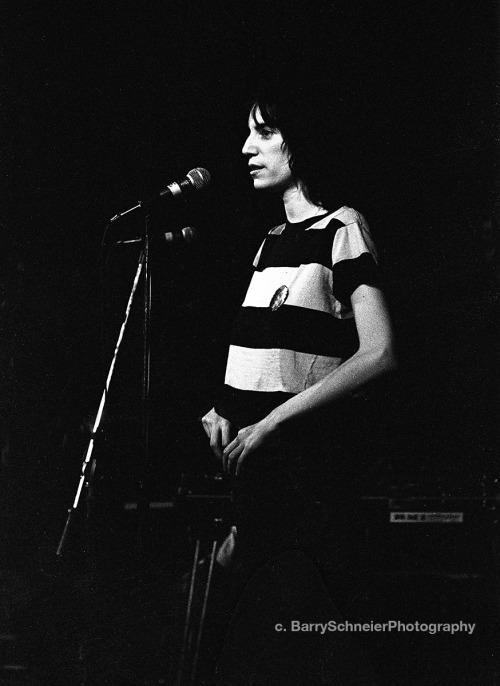 "Patti Smith, The Boarding House, San Francisco 1975 I always thought the road to becoming an artist is a road of discovery. You forge ahead, never really knowing what's next, but that's not important. Your passion drives you, reason takes a back seat. I was once told that the path to becoming an artist can be a lonely one. Patti Smith never set out to be a rock and roll singer. She tried art school, loved making mixed media collages and then decided on poetry. She stayed in New York, slept on friends couches and sometimes even doorsteps. Occasionally the thought of a return to the safety of her family's home in New Jersey entered her mind but it never took hold. She remained an artist, even at the expense of sometime finding herself alone in the largest metropolis in America. Her book ""Just Kids"" is the best testimonial I've read on what it is to become an artist. Here's how Amazon describes it ""It was the summer Coltrane died, the summer of love and riots, and the summer when a chance encounter in Brooklyn led two young people on a path of art, devotion, and initiation. Patti Smith would evolve as a poet and performer, and Robert Mapplethorpe would direct his highly provocative style toward photography. Bound in innocence and enthusiasm, they traversed the city from Coney Island to Forty-second Street, and eventually to the celebrated round table of Max's Kansas City, where the Andy Warhol contingent held court. In 1969, the pair set up camp at the Hotel Chelsea and soon entered a community of the famous and infamous—the influential artists of the day and the colorful fringe. It was a time of heightened awareness, when the worlds of poetry, rock and roll, art, and sexual politics were colliding and exploding. In this milieu, two kids made a pact to take care of each other. Scrappy, romantic, committed to create, and fueled by their mutual dreams and drives, they would prod and provide for one another during the hungry years. Just Kids begins as a love story and ends as an elegy. It serves as a salute to New York City during the late sixties and seventies and to its rich and poor, its hustlers and hellions. A true fable, it is a portrait of two young artists' ascent, a prelude to fame."" Patti Smith today is 65. She's as committed and enthusiastic as ever. Her innocence has grown into wisdom. She has a way with words and still commands an audience. Thankfully, she's chosen to stay on her road and we are all better people for it. She's the same artist, seeking, exploring , never tiring. The desire never goes away. There is no end in site, the road is the way. The way is the spirit of the artist in her. Listen to her stories, drink in her words, and you may just hear some of your own life in hers."