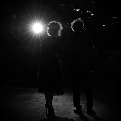 Helena Bonham Carter and Tim Burton attend the opening night film of the 56th BFI Frankenweenie at Odeon Leicester Square on October 10, 2012 in London