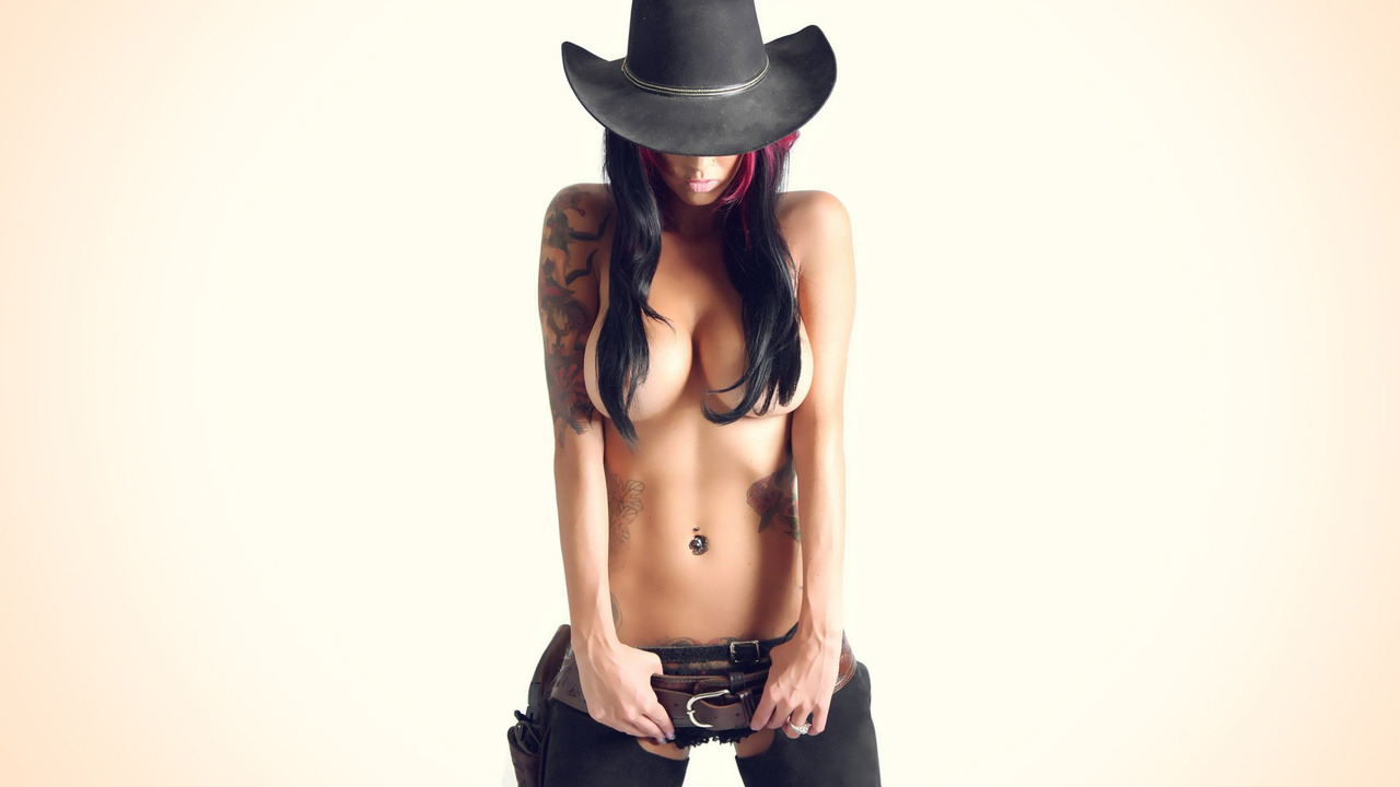 sexy nude girls in cowboy hats