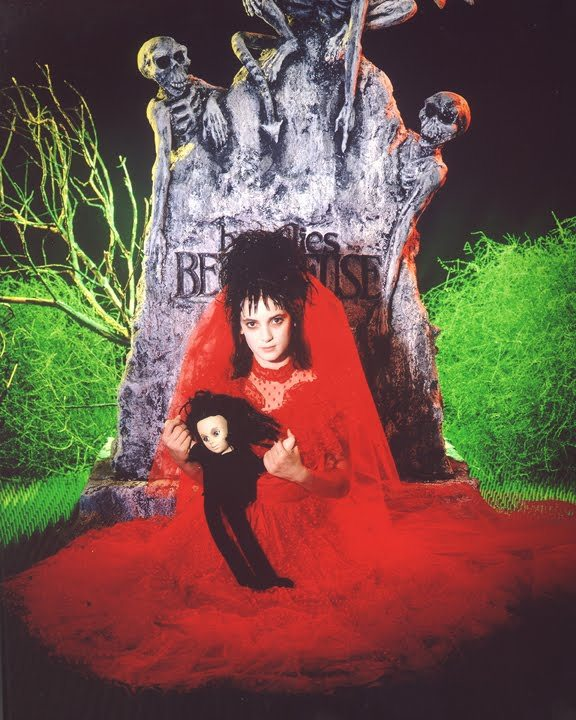 LYDIA'S WEDDING DRESS Married in red, better off dead. Beetle Juice (1988), directed by: Tim Burton, costume design by: Aggie Guerard Rogers