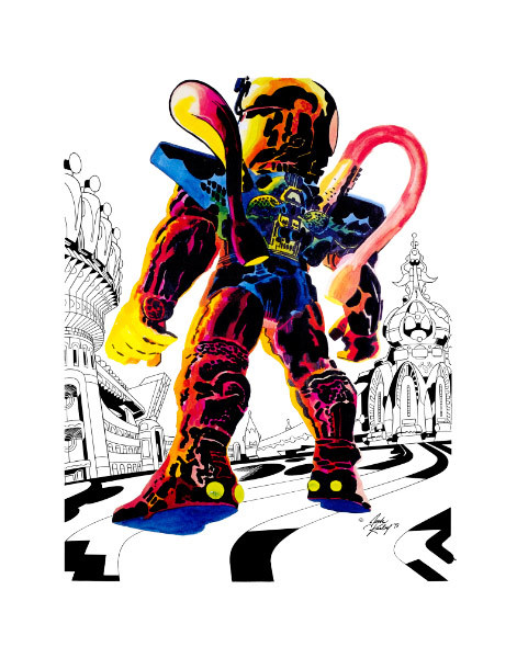 "It's time for NYCC! Who's going to comic-con? The Jack Kirby Museum is at Booth 2378 this year, over in the small press area. We've got a ton of new merchandise (inluding the ""Angel on the Streets of Heaven"" print you see here), some cool new membership premiums, and TWO Mother Boxes for you to feed with your generous donations. Stop by and say hello!"