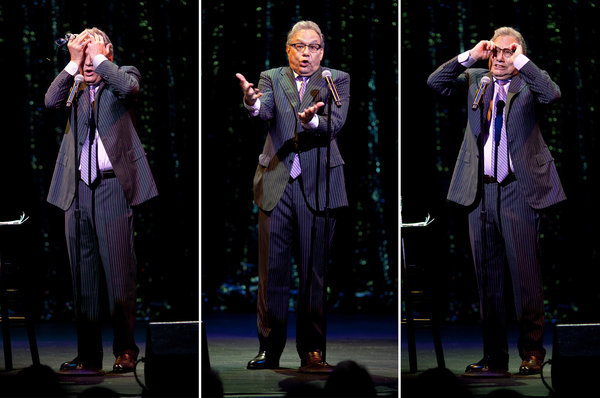 """If you don't vote, you don't get to bitch."" - Lewis Black (NYT Photo: Robert Caplin)"