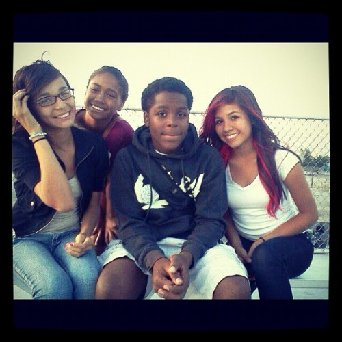 Throwback Thursday. @forevernessa , Tia, & Tracey ❤ #MyRedHairTho #IWasSuperChubby  (Taken with Instagram)