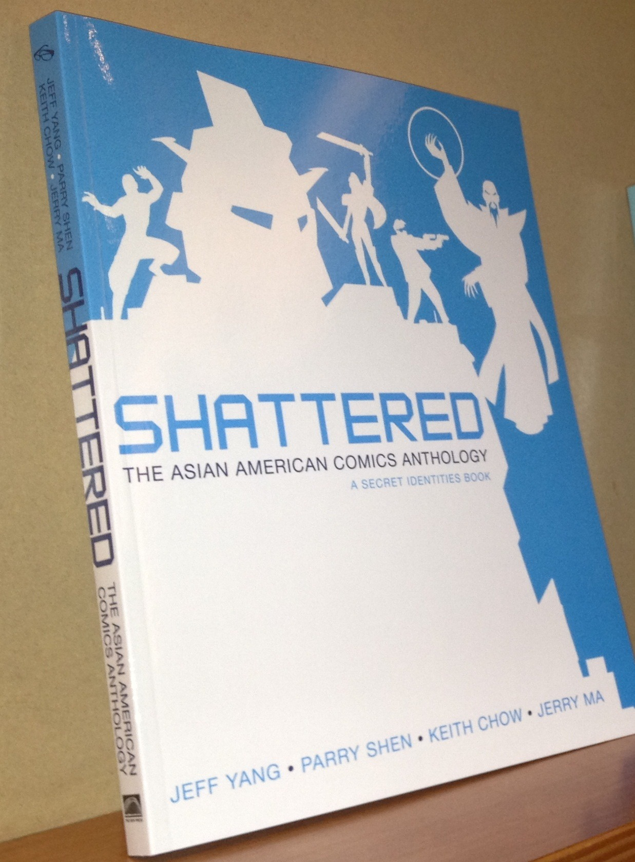 angrygirlcomics:  siuniverse:  Want a free copy of #SHATTERED? Help us get to 2,000 likes on Facebook and 1,000 follows on twitter by Monday the 15th and a random fan gets this.  you guys I've been sitting on this news since July because I couldn't quite believe I was going to be a part of this but I saw the book in person last night which made everything a reality I'M PUBLISHED and I feel so honored to be a part of this!!!!!  Shattered is my first official printed work & you should all follow and support this for all of the amazing people involved, including my good friend Alice Li who did the art for one of the stories. my comic is the two-page acknowledgment for the Vilcek Foundation, the fine philanthropist folks who donated to make publication possible. so please check it out either at MOCA, NYCC this weekend, or buy it on Amazon, & make sure to follow the crew on both FB and Twitter!