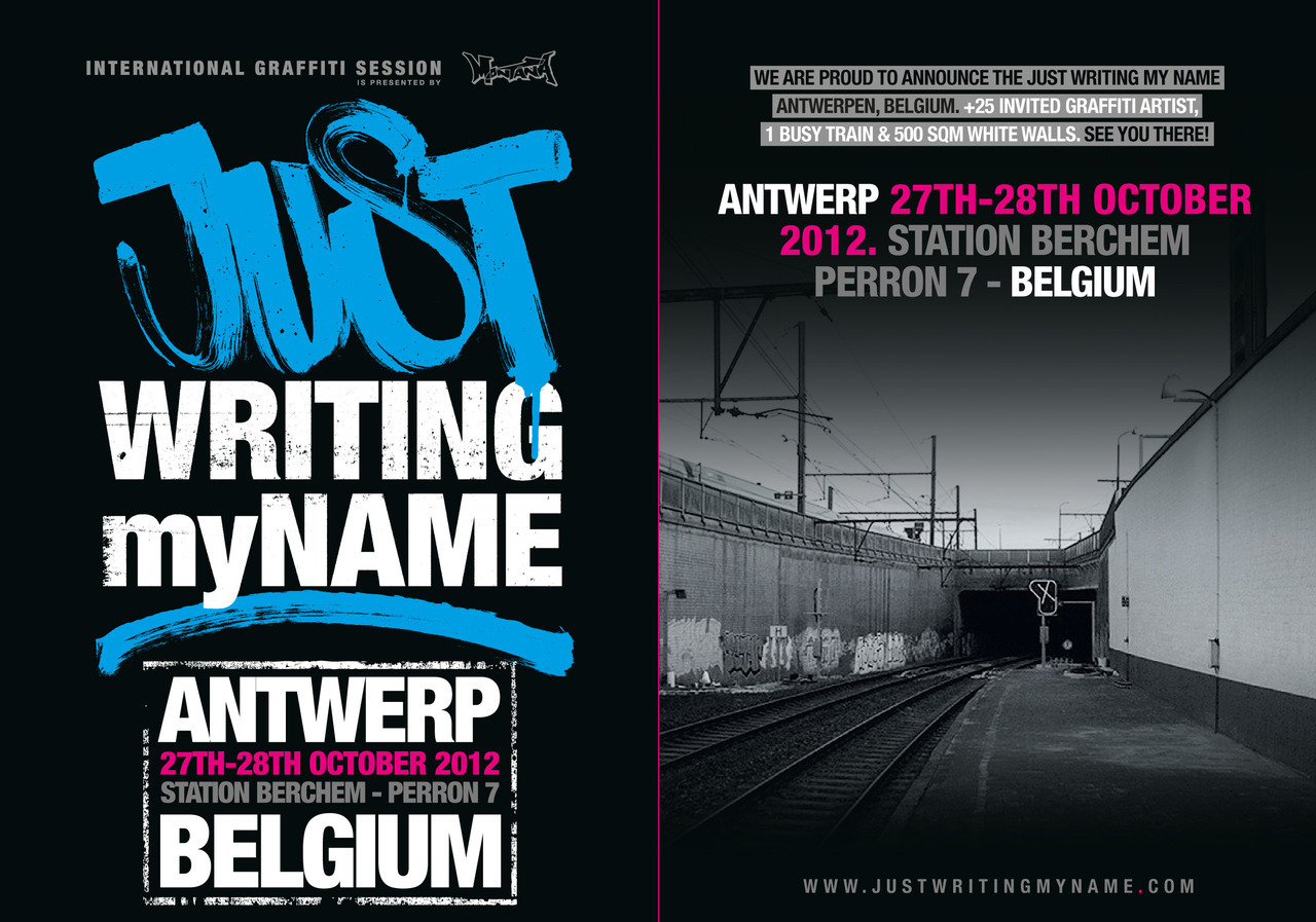 We are proud to announce the Just Writing My Name Antwerp, Belgium! 27th & 28th of october 2012.