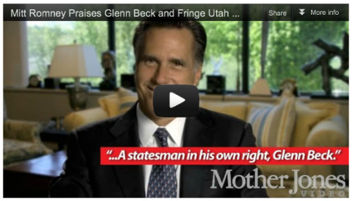 VIDEO: Romney Aided Fringe Utah College Founded by Right-Wing Conspiracy Theorist and Glenn Beck BFF Oops, we did it again.