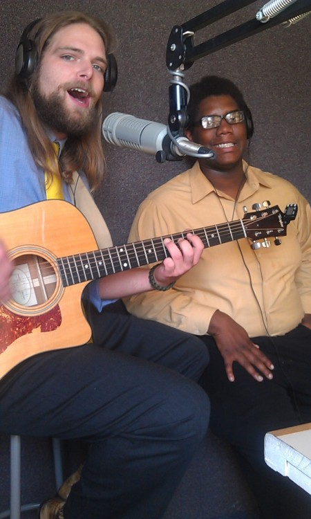 Yellowtieguy frontman Daniel W. Hill makes an appearance at Broadcasting Institute of Maryland for Blake & Ray's local music show: Hometown Heroes!
