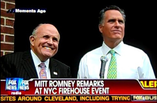 "truth-has-a-liberal-bias:  oinonio:  Rudy Giuliani Thinks Romney Should Be Proud Of 47% Comments: Gothamist  After video of Mitt Romney declaring that 47% of Americans were just lousy bums looking for a handout leaked, Romney stood by the comments. Then last week, Romney flip-flopped, saying, ""In this case I said something that's just completely wrong."" That's a move the Forever Mayor Of 9/11 Town doesn't think Romney has anything to be embarrassed about: ""If I were Governor Romney, I would say that I am glad I had the courage to raise an issue nobody else would raise.""  […]"