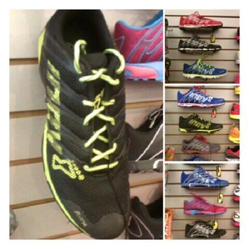 Check out our selection of Inov8 shoes! We have F-lite 195, 215, 220, 230, & 240 as well as the Bare XF 210 & 260. #abbadabbas #little5points #l5p #inov8 #flite #barexf #crossfit #shoes  (Taken with Instagram)