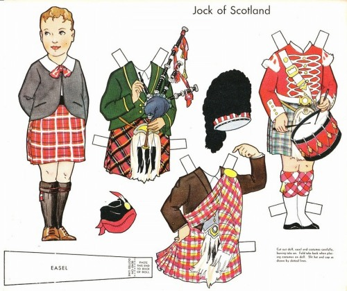 folkthings:  Jock of Scotland in Dolls of Many Lands, Whitman. 1932
