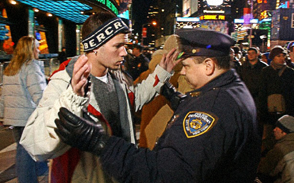 "motherboardtv:  Listen As Cops Threaten Young Men During a Stop-and-Frisk In the course of the two-minute recording, the officers give no legally valid reason for the stop. - by Derek Mead  Motherboard's piece about stop-and-frisk reminded me of The New Inquiry's great Evan Calder Williams essay ""Objects of Derision"". Specifically:  ""A cop is tautologically specified as ""untouchable"" by the same order of law that he enforces, the same one that declares individual subjects to be no concern of the police. Because the declared rules of engagement have different conditions for those involved (for example, for you and an officer on the same street), an exchange between nominal equals is utterly impossible. The possibility of a struggle, conversation, encounter, or discourse on terms that apply mutually to both parties is denied. The two cannot both be understood as subjects in the same register. They are incommensurable."""