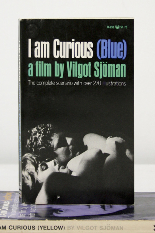 "Vilgot Sjoman, I Am Curious (blue) ""'above and beyond the summit of love, love, love —"" Grove Press, Inc., Black Cat, New York, 1970 4 x 7 INCHES (10 x 17¾ CM) $25 PURCHASE"