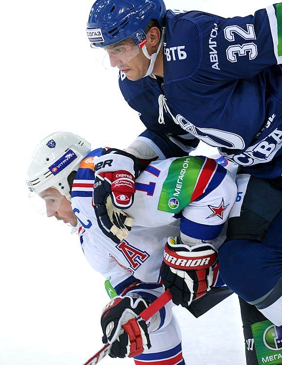 Alex Ovechkin and Ilya Kovalchuk fight for the puck during a KHL game between the Dyanamo Moscow and SKA Saint Petersburg. Like many top NHL players, Ovechkin and Kovalchuk are playing in Europe while the NHL tries to reach a deal for a 2012-13 season. (Ury Kuzmin/Getty Images) GALLERY: NHL Players Elsewhere
