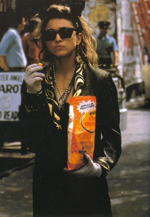 papermag:  Madonna with a bag of Cheese Doodles, circa 1983. #ThrowbackThursdays