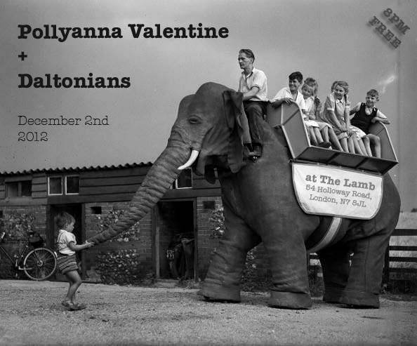 New show announced in London with the wonderful Pollyanna Valentine RSVP here!