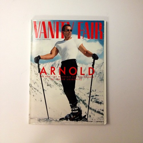 A sporty Arnold @Schwarzenegger on our June 1997 issue. #classiccovers (Taken with Instagram)