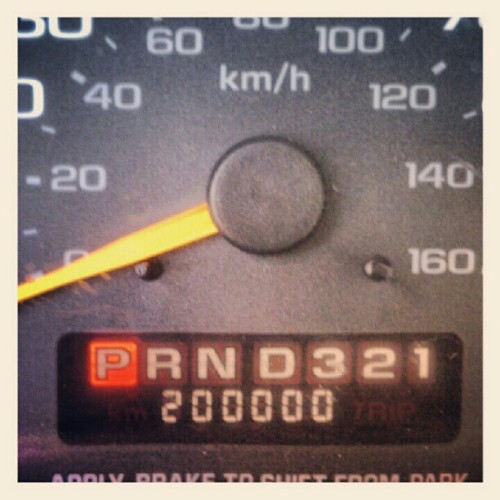 Just hit 200,000 miles in the van. Thank you so much for giving us the opportunity to do this. (Taken with Instagram at Shell Gas Station)