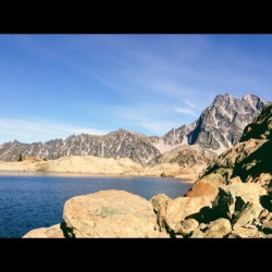Ingalls lake and Mt. Stuart. The one two punch. #alpine #lakes #vscocam (Taken with Instagram)