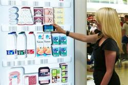 The UK's biggest supermarket chain Tesco has launched a virtual supermarket online shopping system at Gatwick's north terminal.