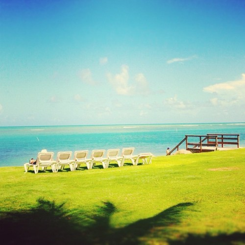 i know that you wish to be here. Paradise ☀🌴🎉 #puertorico #instagram #iphonegraphy #igpuertorico #mybirthday #birthday #old #33 #october #vacation #fun #playing #happiness #hotel #pool #palms #fatherandson #beach #sky #chair #paradise (Taken with Instagram at Gran Melia Pool)