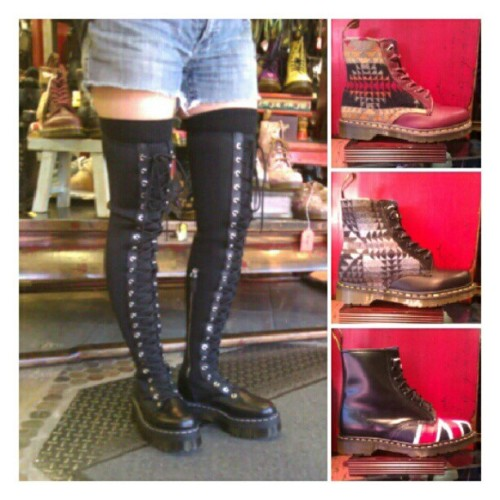 New Dr Martens! Pendleton & Agyness Deyn & Union Jack Docs for Fall! #abbadabbas #little5points #l5p #drmarten #docs #boots #pendleton #firstandforever #unionjack #agynessdeyn #aggydeyn  (Taken with Instagram)