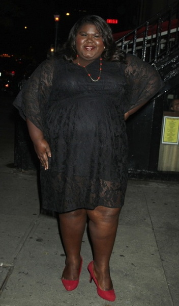 "Gabby Sidibe at the premiere of ""Seven Psychopaths"" in NYC on Wednesday…"