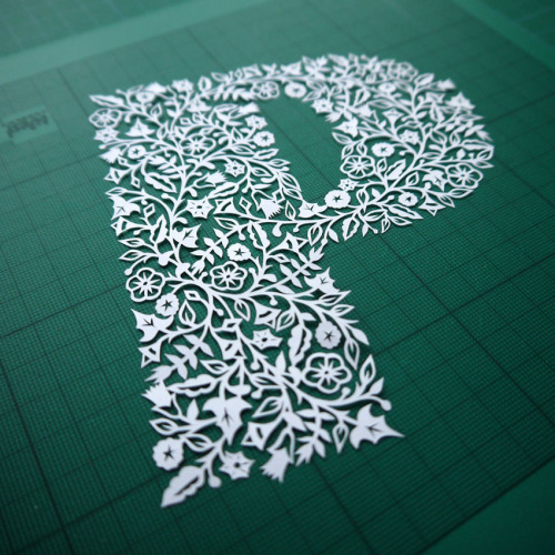 twentysixtypes:  P is for paper-cut by VegasLammy