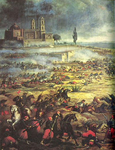 Charge of the Mexican Cavalry at the Battle of Puebla @credits  The Battle of Puebla took place on 5 May 1862 near the city of Puebla during the French intervention in Mexico. The battle ended in a victory for the Mexican Army over the occupying French forces. The French eventually overran the Mexicans in subsequent battles, but the Mexican victory at Puebla against a much better equipped and larger French army provided a significant morale boost to the Mexican army and also helped slow the French army's advance towards Mexico City. The Mexican victory is celebrated yearly on the fifth of May. Its celebration is regional in Mexico, primarily in the state of Puebla, where the holiday is celebrated as El Día de la Batalla de Puebla (English: The Day of the Battle of Puebla). There is some limited recognition of the holiday in other parts of the country. This holiday remains very popular in the United States where it is celebrated annually as Cinco de Mayo.