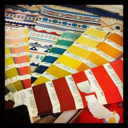 Finalising colours for the first collection! (Taken with Instagram)