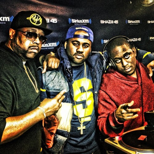 ME AND MY DAY 1 N!GGAS @REALDJKAYSLAY & @djradio AT SHADE 45 LASTNIGHT!  #THEMAFIA. #MIB  (Taken with Instagram)