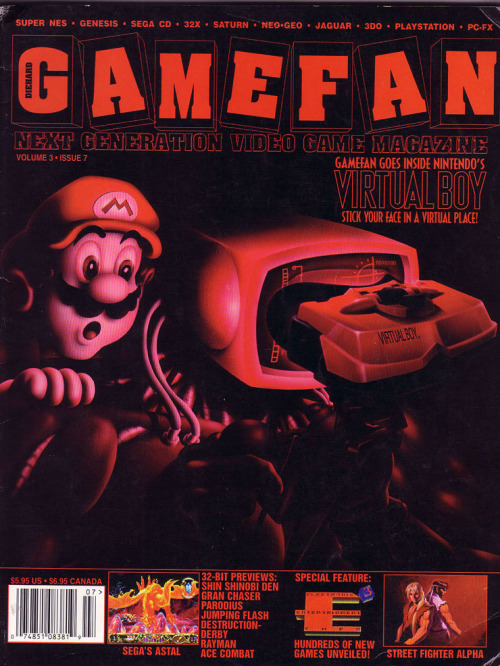 Diehard Gamefan magazine Virtual Boy cover. Stick your face in a virtual place, indeed.
