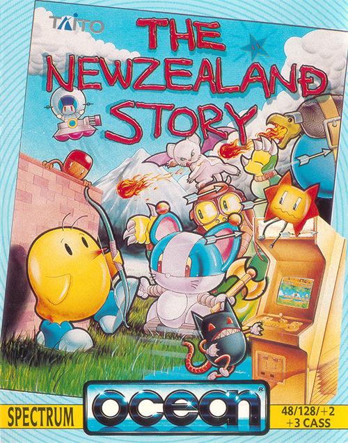 vgjunk:  The New Zealand Story ZX Spectrum cover.