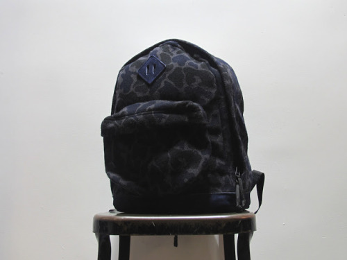 novh:  Navy Wool Camo Day Pack by Engineered Garments