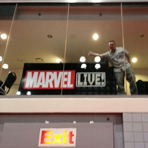 If you're looking for me at #NYCC, I'll be in the #MarvelNYCC skybox! (Taken with Instagram)