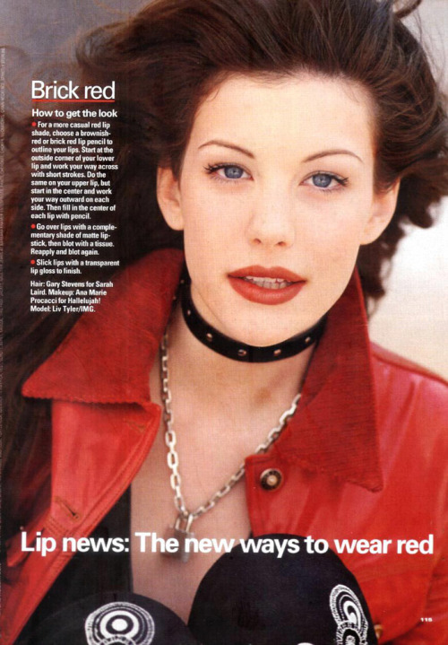 "YM April 1993 ""Simply Red"" Model: Liv Tyler ph: Myers Robertson"