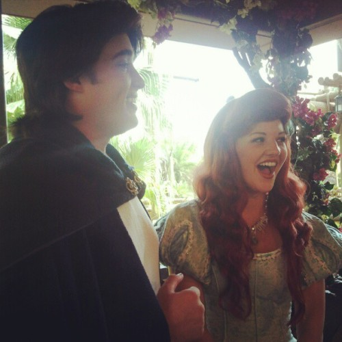 These 2 are perfect. #ariel #Eric #magickingdom (Taken with Instagram)