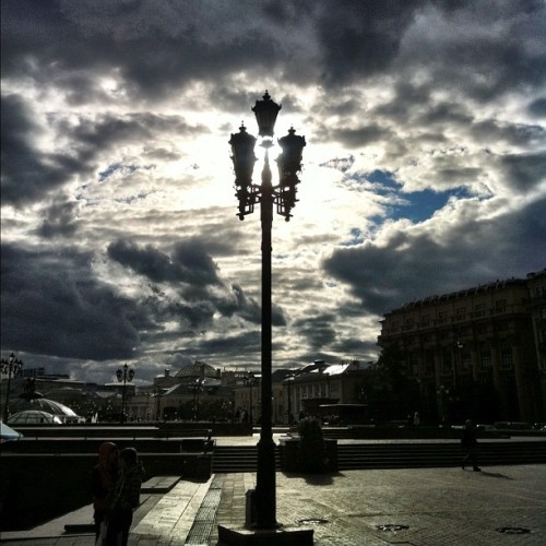 Light. Moscow. Manezhnaya sq. #moscow #russia #streetphoto #iphone #russiabest  (Taken with Instagram)
