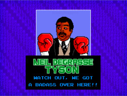 it8bit:  Neil deGrasse Tyson's Punchout! How amazing would it be to play Neil deGrasse Tyson's Punchout? One of the greatest minds of our time, mixed with one of the greatest games & a pinch of meme added in. 8x10 Print only $11 @it8Bit's new store!