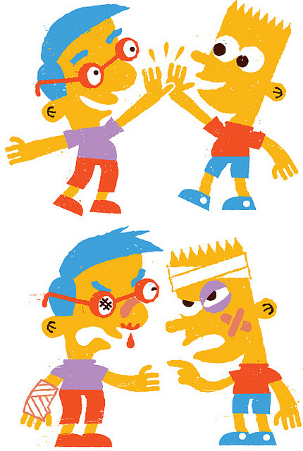 Frenemies on Flickr.Via Flickr: A quick piece for Jack Teagle's Simpsons Drawing Club Tumblr.  Check out all the other submissions at - www.simpsonsdrawingclub.tumblr.com