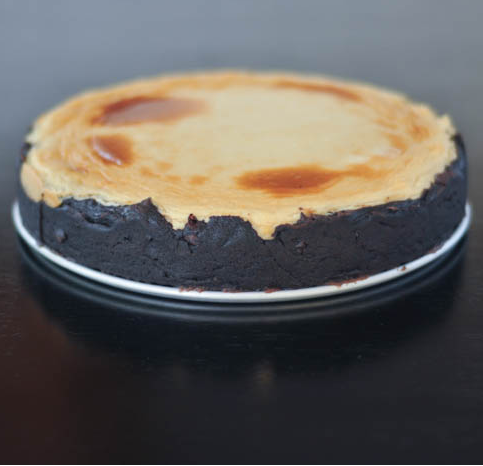 findvegan:  brownie bottomed cheesecake