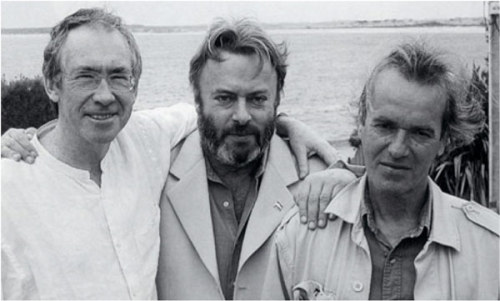 amandaonwriting:  Ian McEwan, Christopher Hitchens, and Martin Amis, Uruguay.